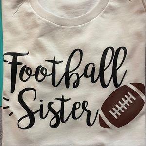 Adult Football Sister T-shirt